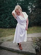 Šaty - Ľanové zavinovacie šaty - 11656425_