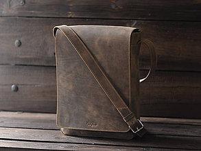 Tašky - Pánsky kožený mesenger - 11661808_