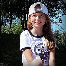 Detské oblečenie - Detské tričko s čiernym lemom - OčiPuči  ČumiZGumy 122 - 11659758_