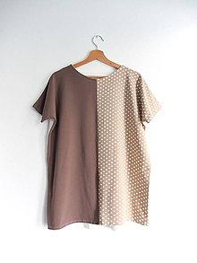 Tričká - Tričko béžová bodka - 11662413_