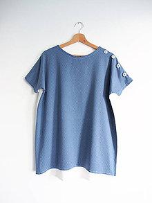Tričká - Tričko modré s bodkou - 11662425_