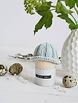 Dekorácie - Veľkonočná dekorácia - pletená čiapočka II - 11659952_
