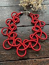 Náhrdelníky - Červené uzly - 11661730_