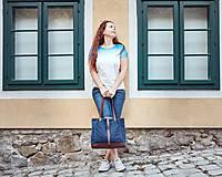 Veľké tašky - Modrá veľka taška - 11662256_