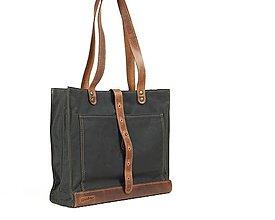 Veľké tašky - Zelená veľka taška - 11662233_