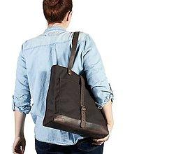Veľké tašky - Hnedá veľka taška - 11662276_