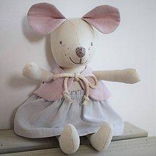 Hračky - Myška Blanka - 11662457_
