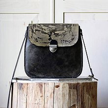 Kabelky - Kožená kabelka Antique Urban camouflage - 11659651_