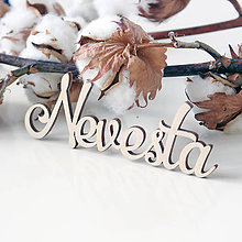 Polotovary - Drevený výrez Nevesta - 11662342_