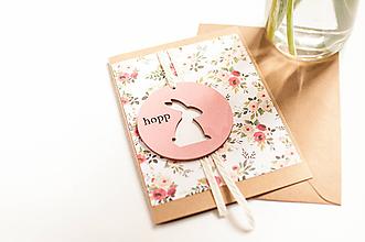 """Papiernictvo - Hopp! Jarný pozdrav """"pink"""" - 11661678_"""