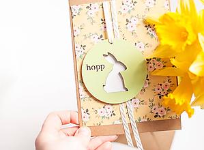 """Papiernictvo - Hopp! Jarný pozdrav """"green"""" - 11661715_"""