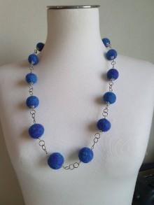 Náhrdelníky - Mrázik - plstený náhrdelník - 11664063_
