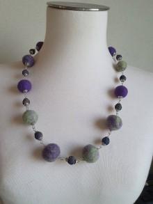 Náhrdelníky - Rozlúčka plsteny náhrdelník - 11664096_