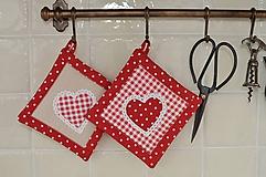Úžitkový textil - Červené chňapky - 11662846_