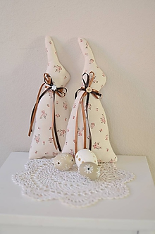 Dekorácie - Kvietkované zajačikovia - 11663032_