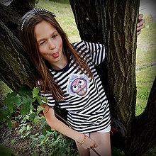Detské oblečenie - Detské pásikavé tričko - OčiPuči Wincko 122 - 11663492_