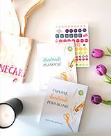 - Kniha + diár + nálepky + taška - 11664594_