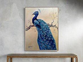 Obrazy - Blue peacock - 11665816_
