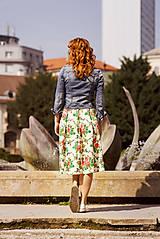 Sukne - MARÍNA - skladaná kvetinová sukňa - 11665151_