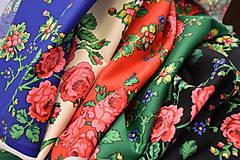 Sukne - MARÍNA - skladaná kvetinová sukňa - 11665185_