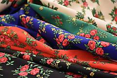 Sukne - MARÍNA - skladaná kvetinová sukňa - 11665188_