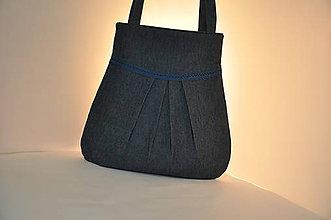 Veľké tašky - KABELKA - riflová s krajkou - 11665145_
