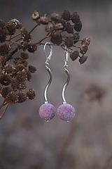Náušnice - Bledé fialové