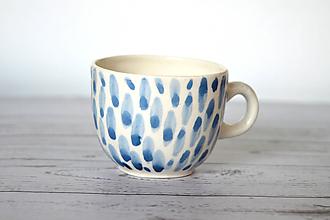 Nádoby - Porcelánová šálka Len tak modrá - 11664042_