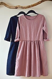 Šaty - Mauve šaty lněné - 11664893_
