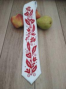 Doplnky - Vyšívaná kravata - 11666927_