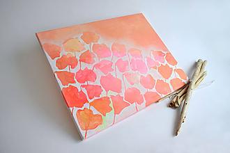 Obrazy - Kvetinový záhon...na plátne. - 11668842_