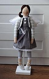 Bábiky - Pani učiteľka - anjelka na podstavci - 11666144_