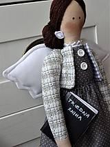Bábiky - Pani učiteľka - anjelka na podstavci - 11666145_