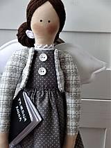 Bábiky - Pani učiteľka - anjelka na podstavci - 11666149_
