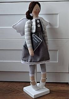 Bábiky - Pani učiteľka - anjelka na podstavci - 11666147_