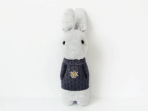 Dekorácie - dekorácia zajačik Grey - 11667931_