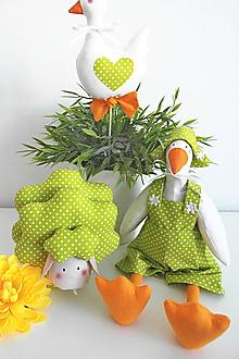 Dekorácie - Veľkonočná trojka-zelená - 11668231_