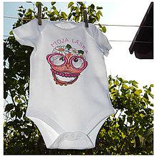 Detské oblečenie - Detské bavlnené body - OčiPuči Baby Pimkie 3-6 - 11668310_