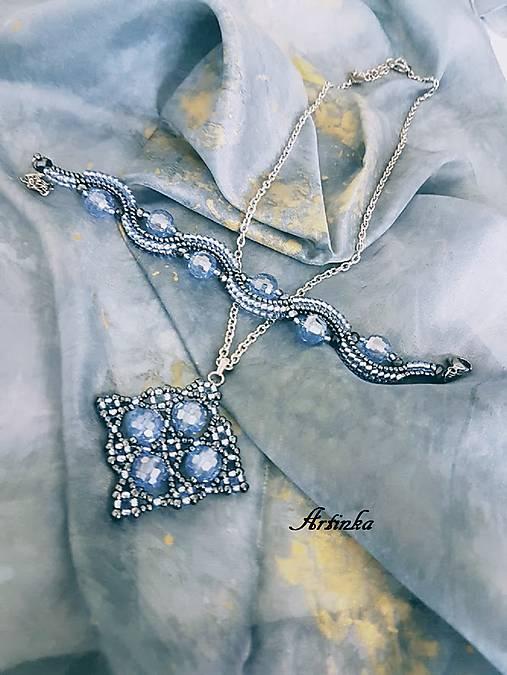 SET - hodvábny šál+náhrdelník