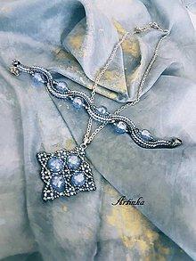 Šály - SET - hodvábny šál+náhrdelník - 11667645_