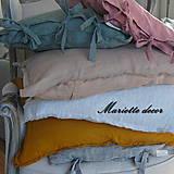 Úžitkový textil - Lněný povlak různé rozměry, odstíny - 11668311_