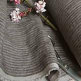 Textil - odstín stripes SMOKY BROWN/WHITE..100% len metráž - 11668323_