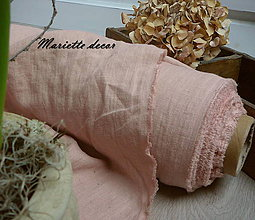 Textil - odstín PALE PEACH ..100% len metráž - 11668328_
