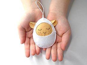 Dekorácie - Vajíčko (ovečka) - 11667252_