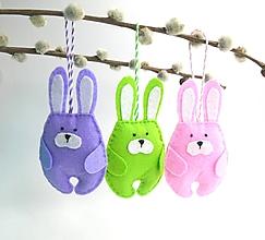 Dekorácie - Veľkonočné zajačiky (pestré) - 11667405_