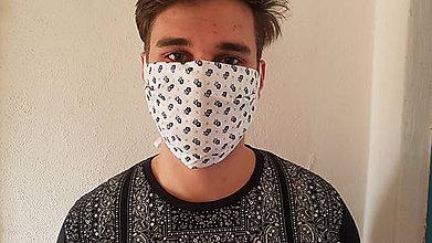 Rúška - Ochranná rúška na tvár s ľanovou vrstvou - 11668093_