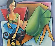 Obrazy - LENIVÉ ODPOLEDNE , kubismus - 11668596_