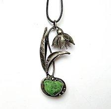 Náhrdelníky - Cínový šperk - Jarný kvietok - 11666136_