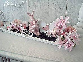 Dekorácie - Veľkonočný podnos ružový. - 11669267_