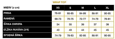 Topy - TOP WRAP - tehlový - 11667785_